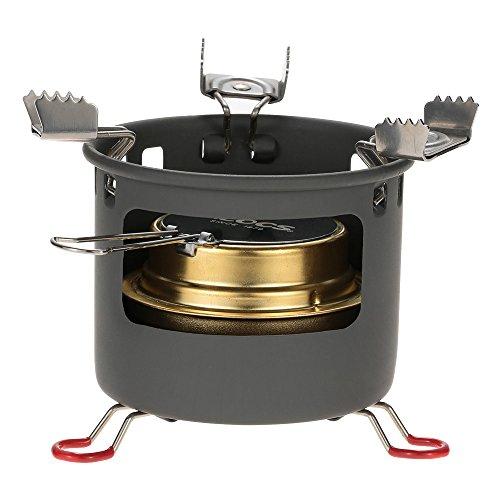 Docooler Camping Outdoor-Geist Alkohol Burner Campingkocher Spiritus-Ofen Bracket Support Set