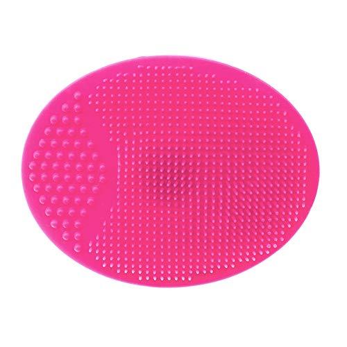 Brosse de nettoyage pour le visage Tampon en silicone souple Nettoyage du visage Massager Exfoliant Enlèvement des points noirs Outil de nettoyage gommage pour la peau, Rose rouge