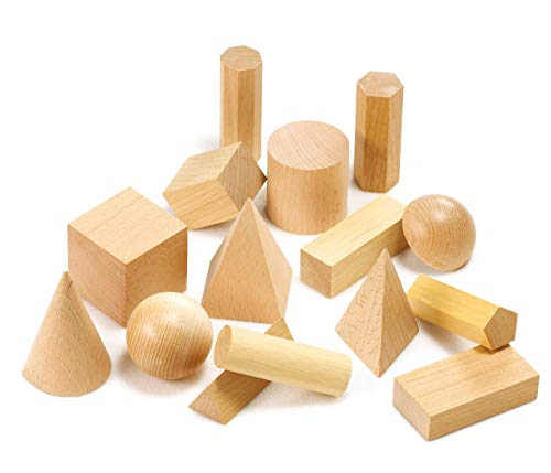 edx education 52177 Wooden Geometric Solid Model (Pack of 15)