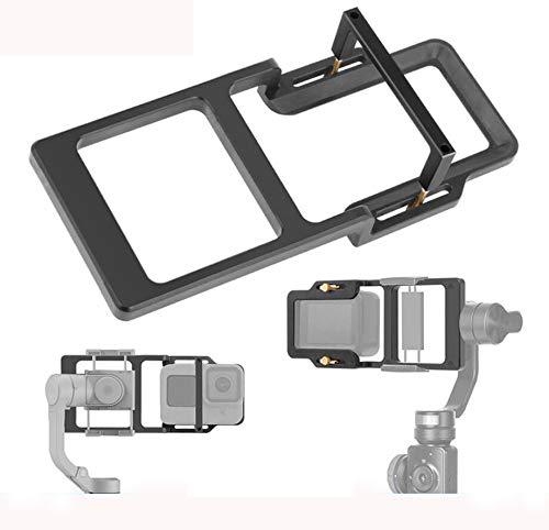 Linghuang - Adattatore piastra per fotocamera d'azione per GoPro Hero 9/8 Black per DJI Osmo Action Stabilizzatore Portatile Cardan Accessori per Zhiyun/Moza