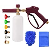 M MINGLE Foam Cannon for Pressure Washer, Foam Lance Kit for Cars or SUVs, Pressuer Washer Gun with 5 Nozzle Tips