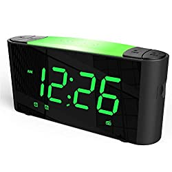 SICSMIAO Digital Alarm Clock Radio, Alarm Clocks for Bedrooms, FM Radio, 3 Color Displays, 7 Color Night Light, Dual USB Charging Ports, Sleep Timer, Dimmer, Snooze, Battery Backup for Kids, Elderly.