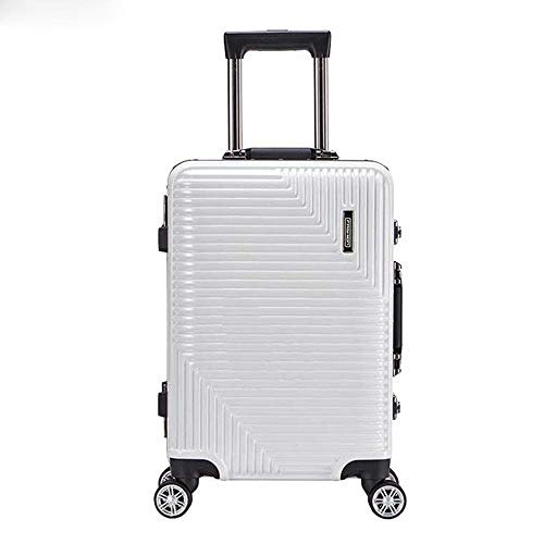 SFBBBO luggage suitcase Rolling luggage travel suitcase with wheels Spinner trolley case boarding carry-on luggage 24' white