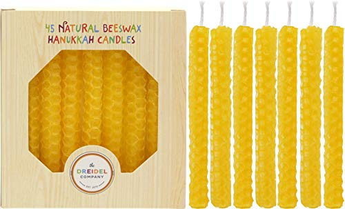 The Dreidel Company Hanukkah Candles Natural Honeycomb Beeswax Natural Beeswax Color - 4.5'