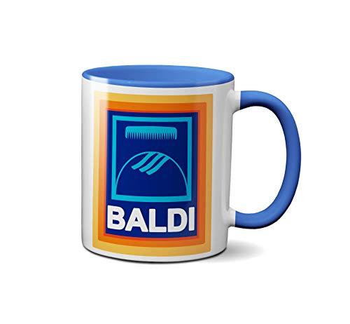 Baldi Comb Mug - Funny Novelty Bald Mens Boys Gift Present Birthday Christmas Cup Coffee Tea (Light Blue)