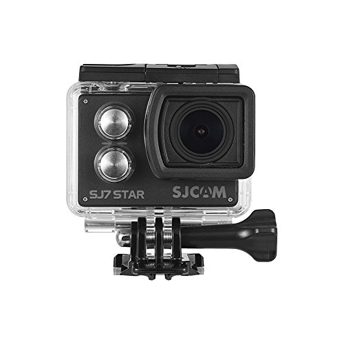 Lepeuxi SJ7 Star 4K/30FPS WiFi Action Camera with 2 Inch Touch Screen Wireless Remote Control Sport Cam Support Gyro Stabilization Waterproof Underwater Camera Black