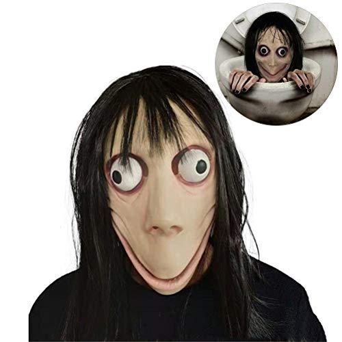 Einsgut MOMO masker horrormasker volgelaatsmasker Halloween Cosplay kostuum rekwisieten Halloween Cosplay masker