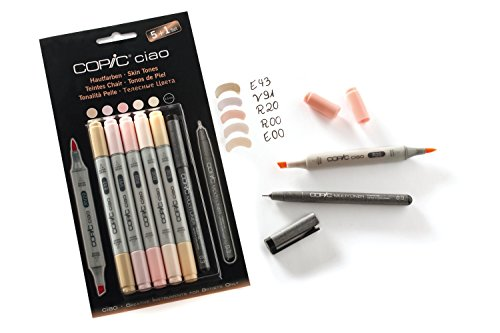 Copic Ciao Marker 5er Set + 1 Hautfarben