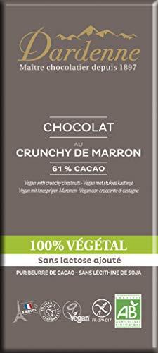 Dardenne - Tablette Chocolat - 100% Végétal - Au Crunchy de Marron - 90 g