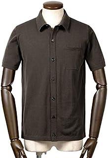 ロベルトコリーナ roberto collina / 19SS!ドライコットンハイゲージ半袖ニットシャツ『RA10025』 (MORO/ダークブラウン) メンズ