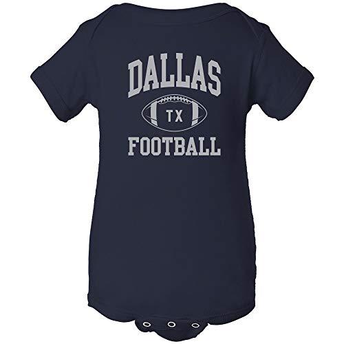 Dallas Classic Football Arch - American Football Team Sports Infant Creeper - Newborn - Navy