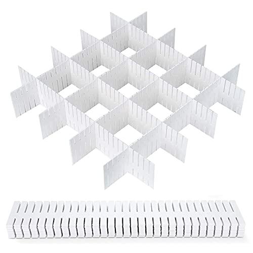 16 Stück Schubladenraster Fachteiler Schubladeneinteiler Verstellbar Schubladentrenner Schubladenteiler Set Schubladenraster Fachteiler Schubladeneinteilung Schubladen Einteiler Teiler Trennwand