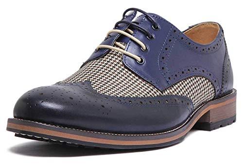Justin Reece England Nicholas Herren-Schuhe, Marineblau, Leder, matt, Blau - Marineblau - Größe: 40 2/3 EU