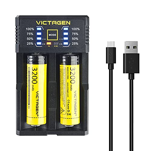Victagen Universal Smart Charger ;Intelligent Battery Charger For Rechargeable Batteries Li - ion/IMR/LiFePO4/Ni-MH/Ni-Cd AA AAA C D