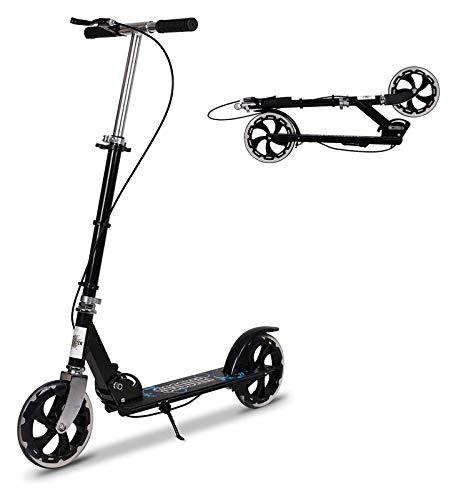 Scooter de pie Patear scooter con freno de mano, ligero fácil plegable patear scooter scooter push scooter con manillar ajustable de freno dual, ruedas de 200 mm for adolescentes mayores de 8 años Sco