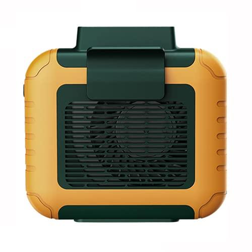 JONJUMP Ventilador de cintura portátil portátil USB con batería de recarga silenciosa portátil ventilador eléctrico portátil aire acondicionado de mano