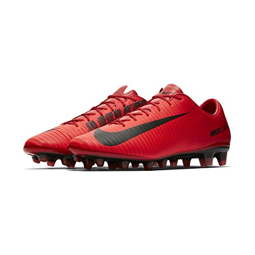 Nike Mercurial Veloce III Césped Artificial Adulto 45 Bota de fútbol - Botas de fútbol (Césped Artificial, Adulto, Masculino, Suela para césped Artificial, Negro, Rojo, Monótono)