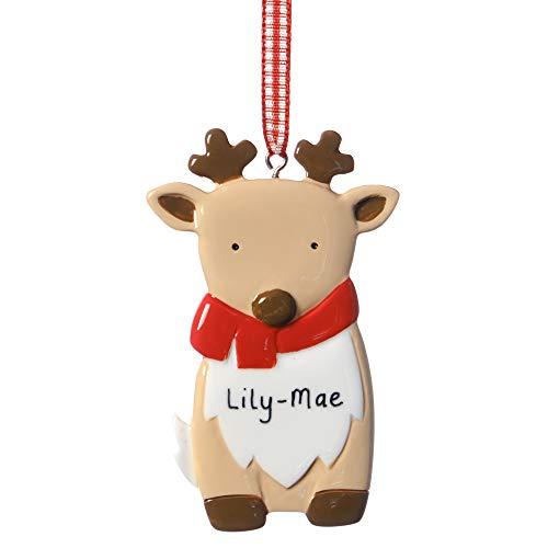 Alphabet barn Personalised Christmas Tree Decoration Baby Deer Ornament Keepsake 1st Xmas Idea