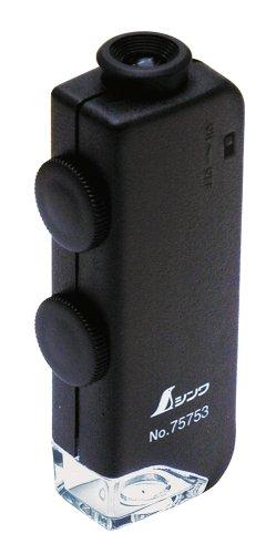 シンワ測定(Shinwa Sokutei) ルーペH ポケット顕微鏡 LEDライト付き 60~100倍 75753
