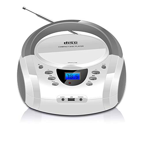 LONPOO Lectores de CD portátiles, Bluetooth Reproductor CD
