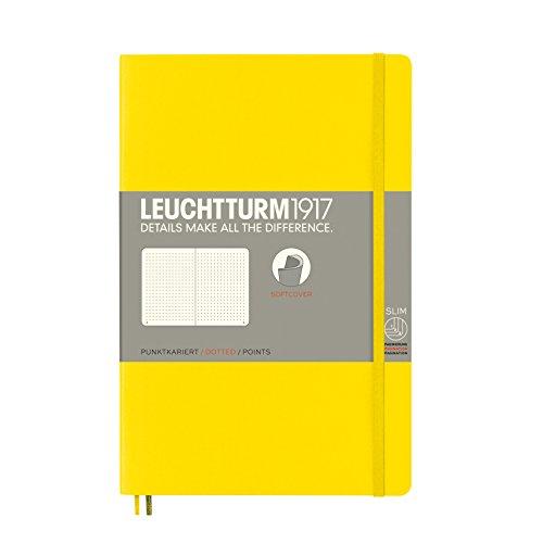 LEUCHTTURM1917 358303 Notizbuch Paperback (B6+), Softcover, 123 nummerierte Seiten, dotted, Zitrone