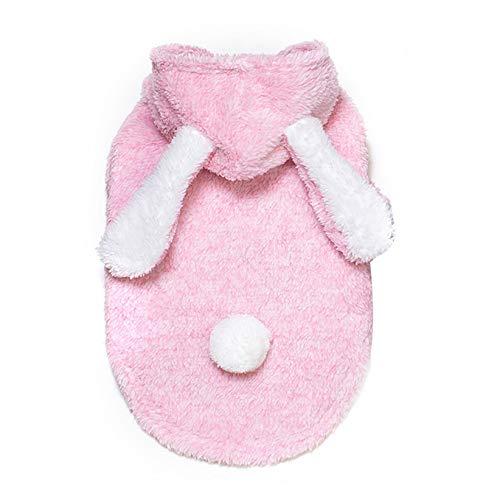 CWYPWDY Pet Kleidung Niedlichen Kaninchen Hund kostüm warme samt hundemantel Winter hündchen Kleidung weich für kleine Hunde