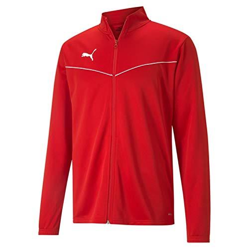 PUMA teamRISE Training Poly Jacket Chaqueta De Entrenamiento, Hombre, Rojo Red White, M