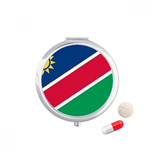 DIYthinker Namibië Nationale Vlag Afrika Land Reizen Pocket Pill case Medicine Drug Storage Box Dispenser Spiegel Gift