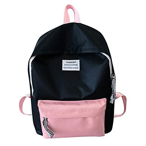 Tigivemen Couple Schoolbag,Travel Hiking Bags, Color Block Backpack Collection Luminous Bag For Girls/Women/Lady