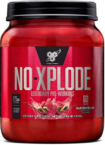 BSN N.O.-XPLODE Pre-Workout Supplement with Creatine, Beta-Alanine, and Energy, Flavor: Watermelon, 60 Servings