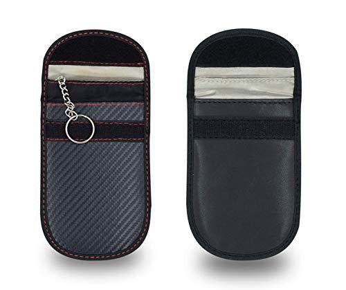 Mini Rfid Keyless Go Schutz Autoschlüssel 2 Stk Funkschlüssel Abschirmung Auto Blocker Faraday Schlüsseltasche Strahlenschutz Tasche Blocking Hülle Box Etui Schlüsseletui Schutzhülle Car Key Safe