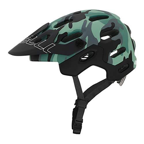 MTB Bike Sports Cycling Casco BicycleHelmet Forest Camuflaje Detachable Brim Camouflage M(54-58CM)
