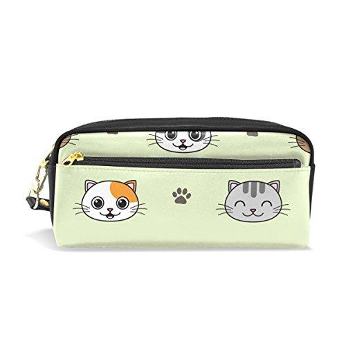 Bennigiry Cute Vector Cats Grande contenance Trousse, enfants Enfants étudiants Stylo Sac étui sac pour voyage école Petit sac Cosmétique