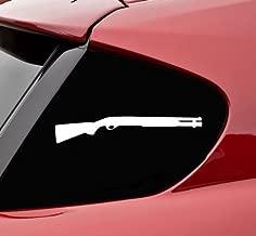 shotgun silhouette vinyl decal bumper sticker