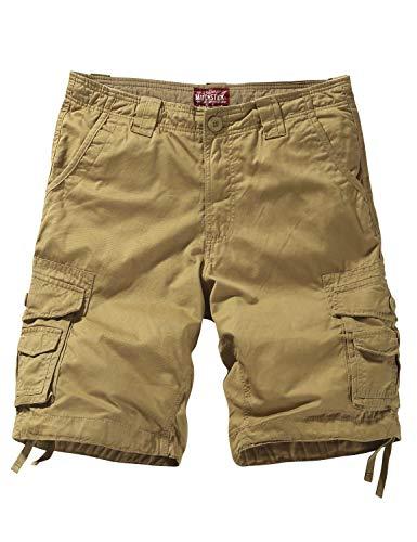 Match Men's Twill Comfort Cargo Short Without Belt #S3612 (Label Size 4XL/40 (US 38), Classic Khaki)