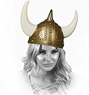 Adorox Adult Viking Warrior Horns Plastic Hat Helmet Unisex Costume Accessory