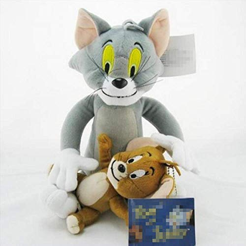 zjq Kuscheltier 2pcs/Set Tom and Jerry Mouse Plush Toys Cute Animal Stuffed Plush Dolls for Kids Gifts