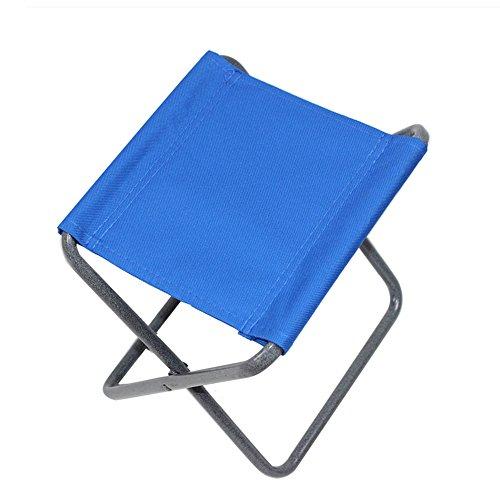 Chaises pliantes Xiaolin Portable Tabouret de pêche Chaise de Plage Chaise de Loisirs Chaise de Camping Siège de Voyage en Plein air (Couleur : Blue)