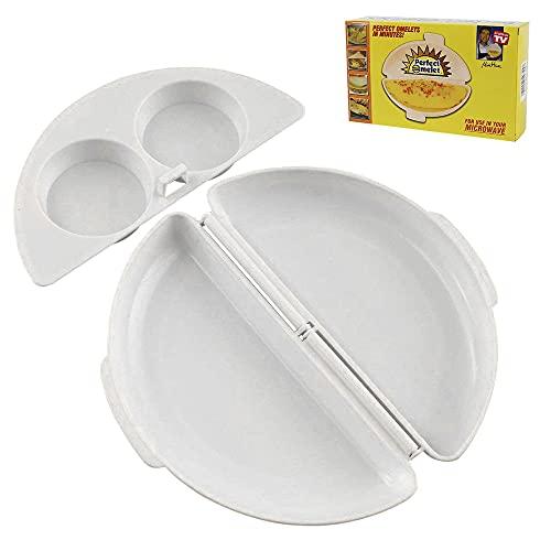IWILCS Microondas Tortilla Silicona, Molde para Tortillas Microondas, Tortilla De Microondas Sartén para Tortillas, Huevos, Cocina en el Hogar (Blanco)