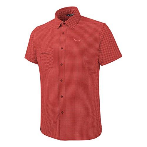 Salewa puez Mini Check Dry M S SRT, Chemise de randonnée pour Homme 48/M Rosso (M Mini Check Fire)