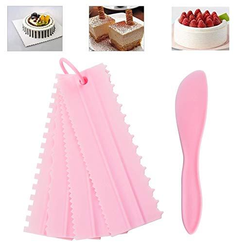 6 Piezas Pasteles Decoración de Peine, Cake Icing Suave, Raspadores de Crema, pétalos de glaseado Lisos, raspador de Masa y raspador de Pasteles, Decoración de Hornear