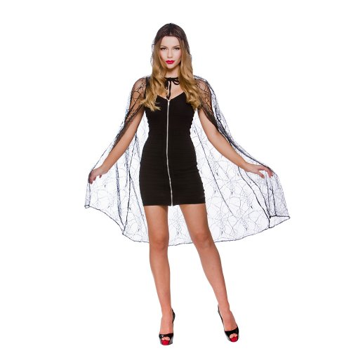 Deluxe Spider Web Cape With Hood - 39\