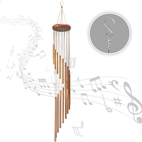 Famiry Wind Chimes for Outside, 36 Inch Wind Chimes Outdoor Sympathy, Memorial Wind Chimes with 18 Metal Tubes & Hook, Outdoor Decor for Garden, Patio, Yard, Home