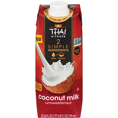 Thai Kitchen Coconut Milk (Resealable, Dairy Free, Simple Ingredients, Unsweetened) (Pack of 6), 25.36 Fl Oz