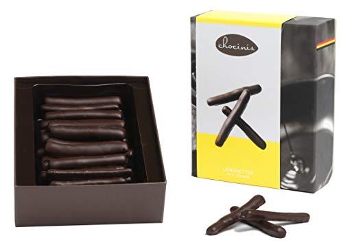 Duva Premium Cáscara de limón confitada en chocolate, Limón de chocolate negro belga 200g