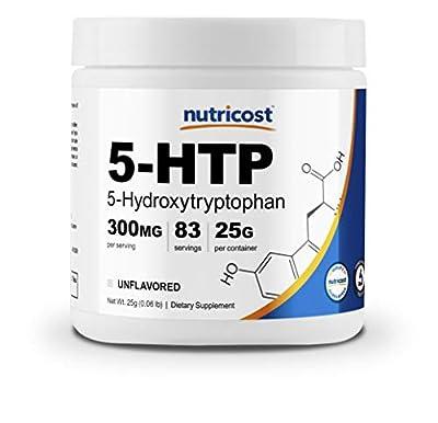 Nutricost 5-HTP Powder 25 Grams (300mg Per Serving) - Gluten Free & Non-GMO, Pure 5-htp