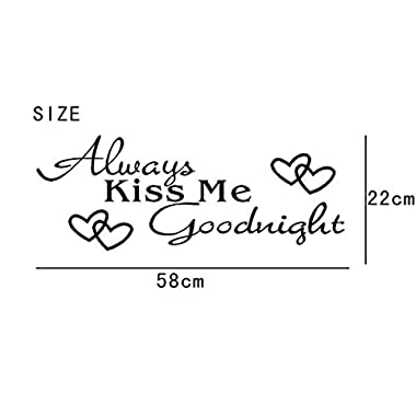IEason Wall Stickers Clearance Sale! Always Kiss Me Goodnight Home Decor Wall Sticker Decal Bedroom Vinyl Art Mural