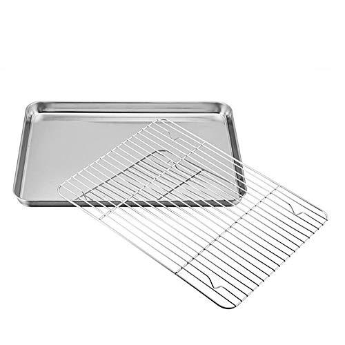 Plaque de cuisson avec grille en acier inoxydable anti-adhésive avec grille de vidange M Silver