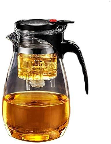 Bouilloire induction Théière en verre avec une tipe transparente infuseuse avec petite tasse en acier inoxydable filtre 1200ml pour la cuisine de bureau à domicile WHLONG