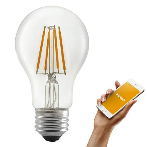 idinio® Bombilla LED inteligente WiFi, E27, regulable por App,...